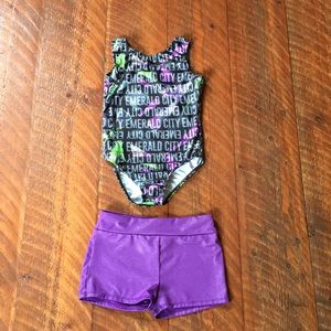 Other - Size L Emerald City Gymnastics Leotard and shorts.